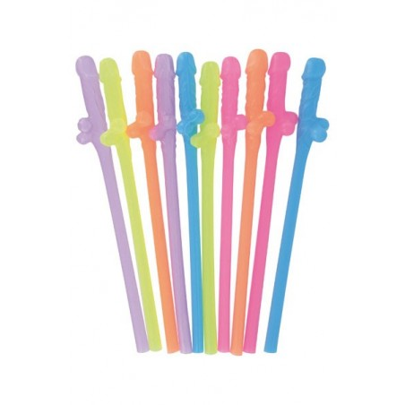 DICKY SIPPING STRAWS Pailles Sexes Colorees Humour Gadget Erotique Coquin