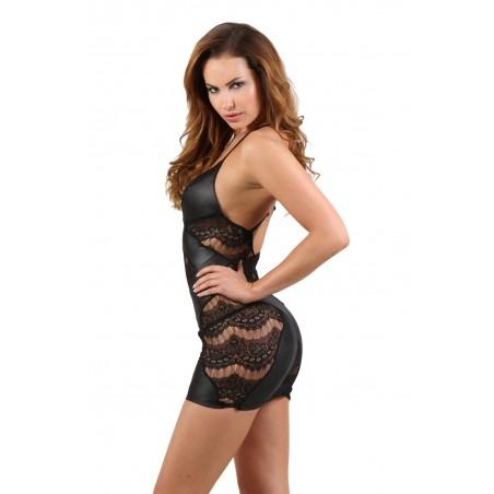 Bas Blanc Auto Fixant Couture et Motif Blanc Argent