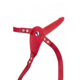 Collant Couture Résille Rouge