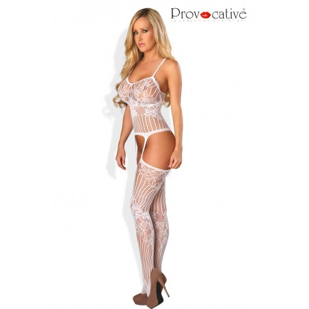 Bodystocking Ouvert Blanc