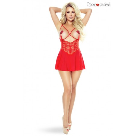 Instant Lovers Babydoll Rouge Ouverte Ou Pas