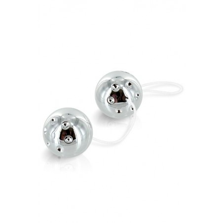 Duo Balls Silver Boules Geisha Argent